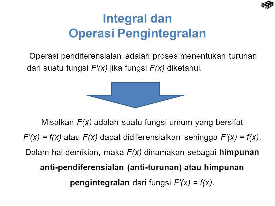Integral dan Operasi Pengintegralan