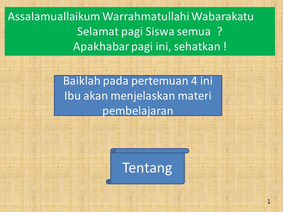 Tentang Assalamuallaikum Warrahmatullahi Wabarakatu