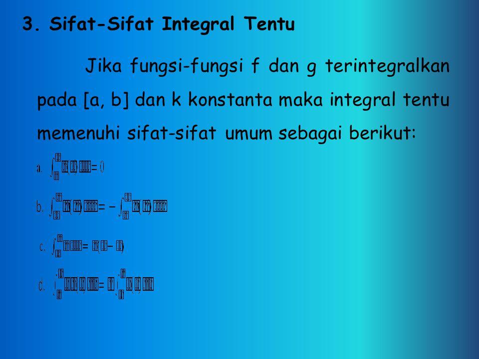 3. Sifat-Sifat Integral Tentu