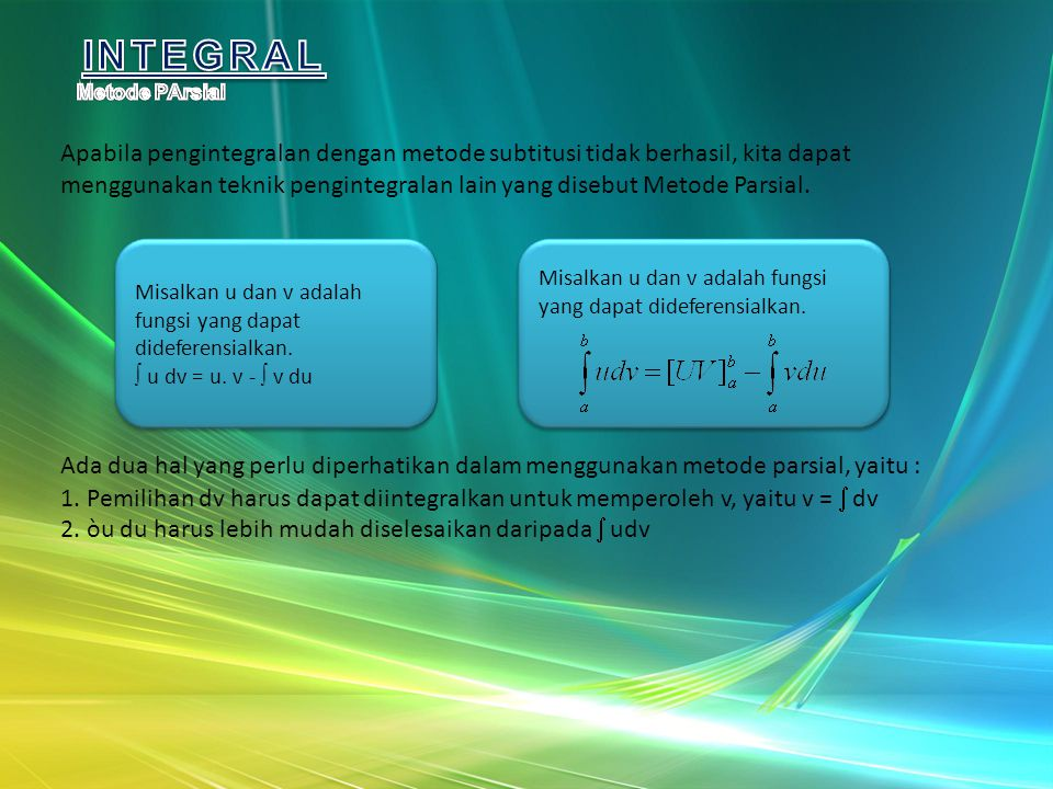 INTEGRAL Metode PArsial.