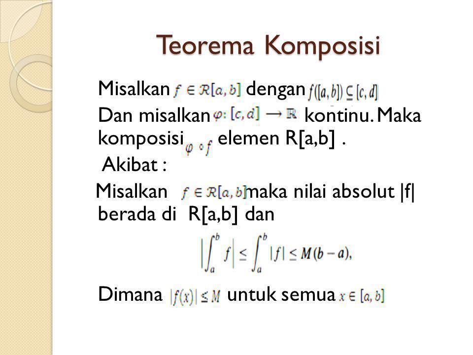 Teorema Komposisi Misalkan dengan