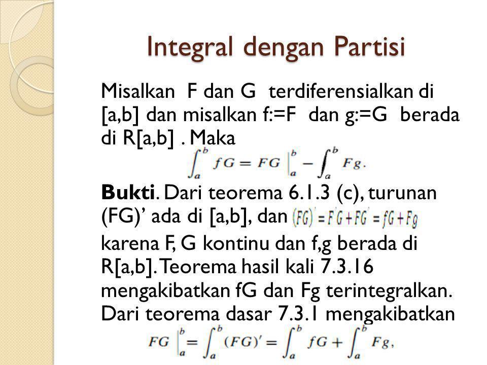 Integral dengan Partisi
