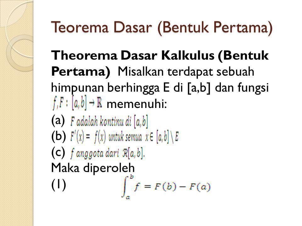 Teorema Dasar (Bentuk Pertama)