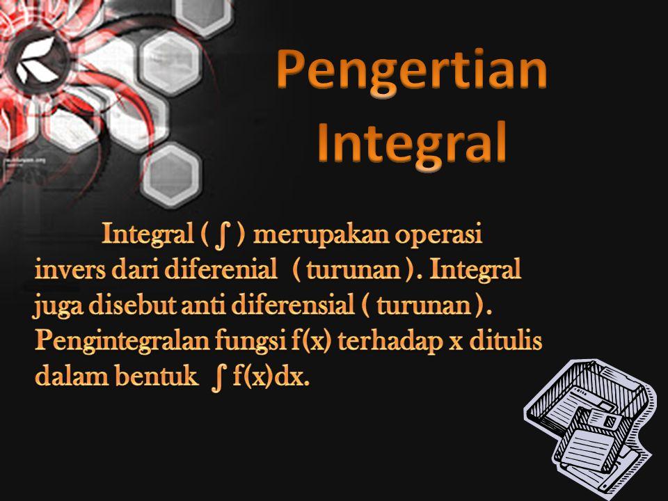 Pengertian Integral