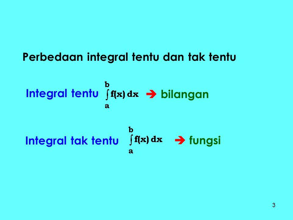Perbedaan integral tentu dan tak tentu