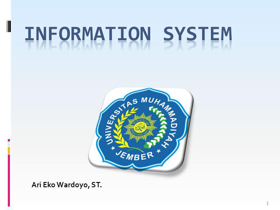Information System Ari Eko Wardoyo, ST.