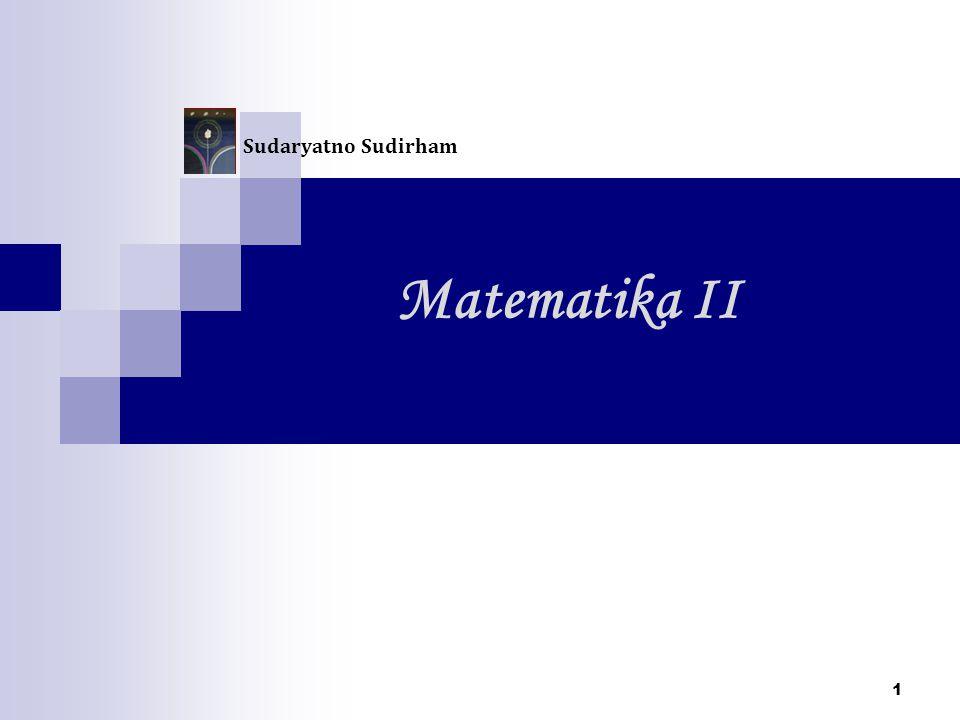 Sudaryatno Sudirham Matematika II