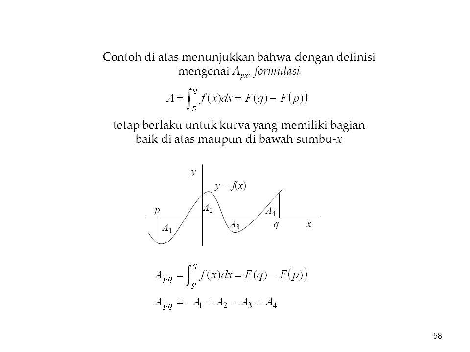 Contoh di atas menunjukkan bahwa dengan definisi mengenai Apx, formulasi