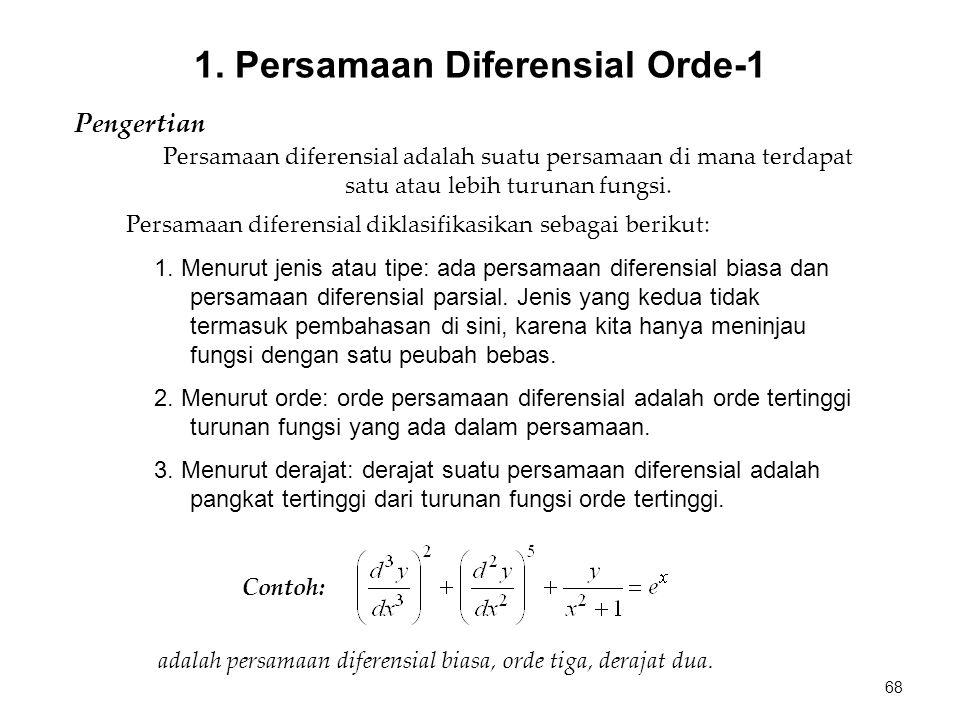 1. Persamaan Diferensial Orde-1