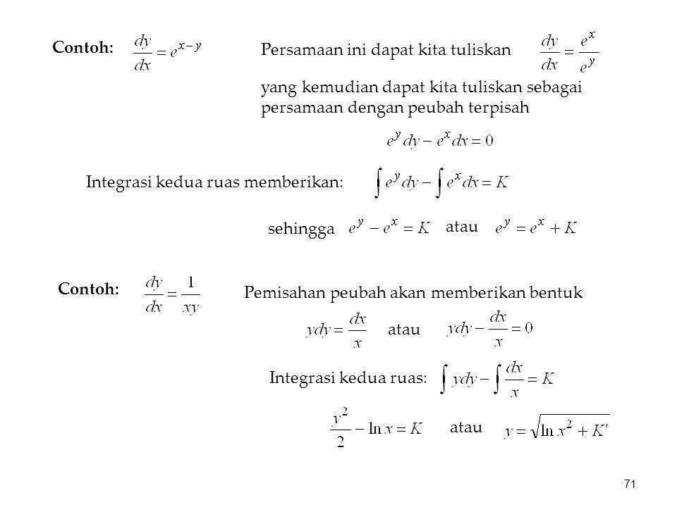Persamaan ini dapat kita tuliskan
