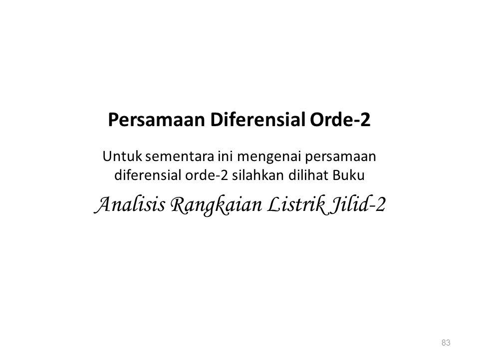Persamaan Diferensial Orde-2