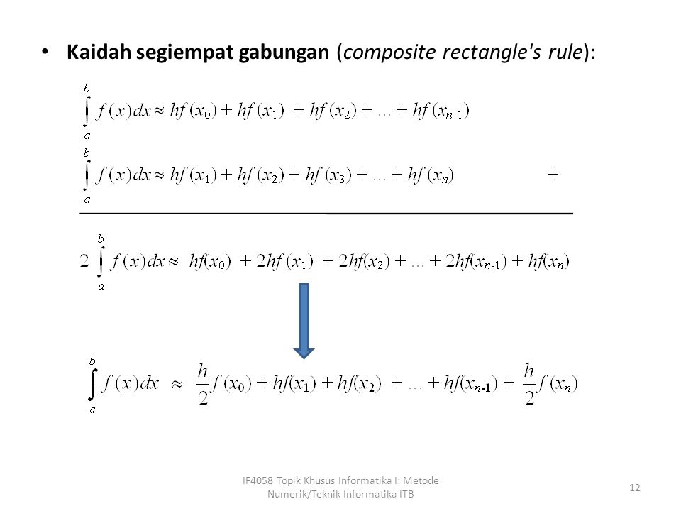 Kaidah segiempat gabungan (composite rectangle s rule):