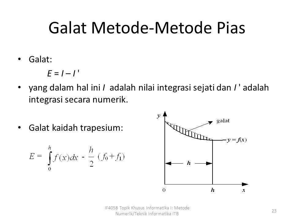 Galat Metode-Metode Pias