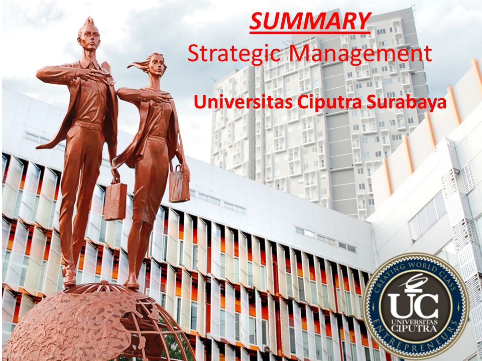 SUMMARY Strategic Management