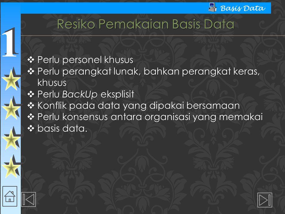 Resiko Pemakaian Basis Data