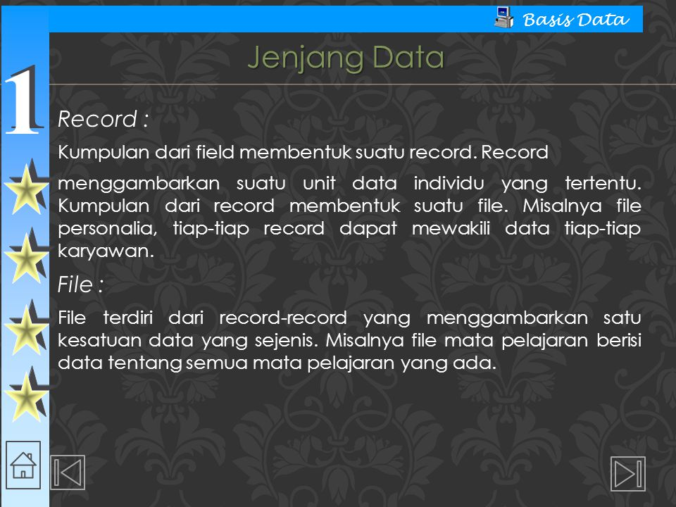 Jenjang Data Record : File :