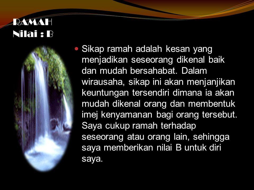 RAMAH Nilai : B