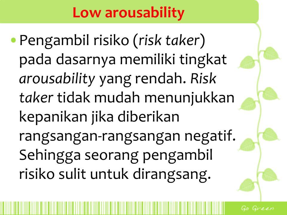 Low arousability