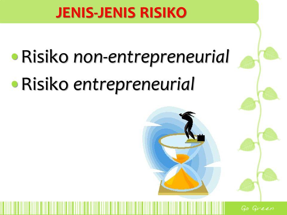 Risiko non-entrepreneurial Risiko entrepreneurial