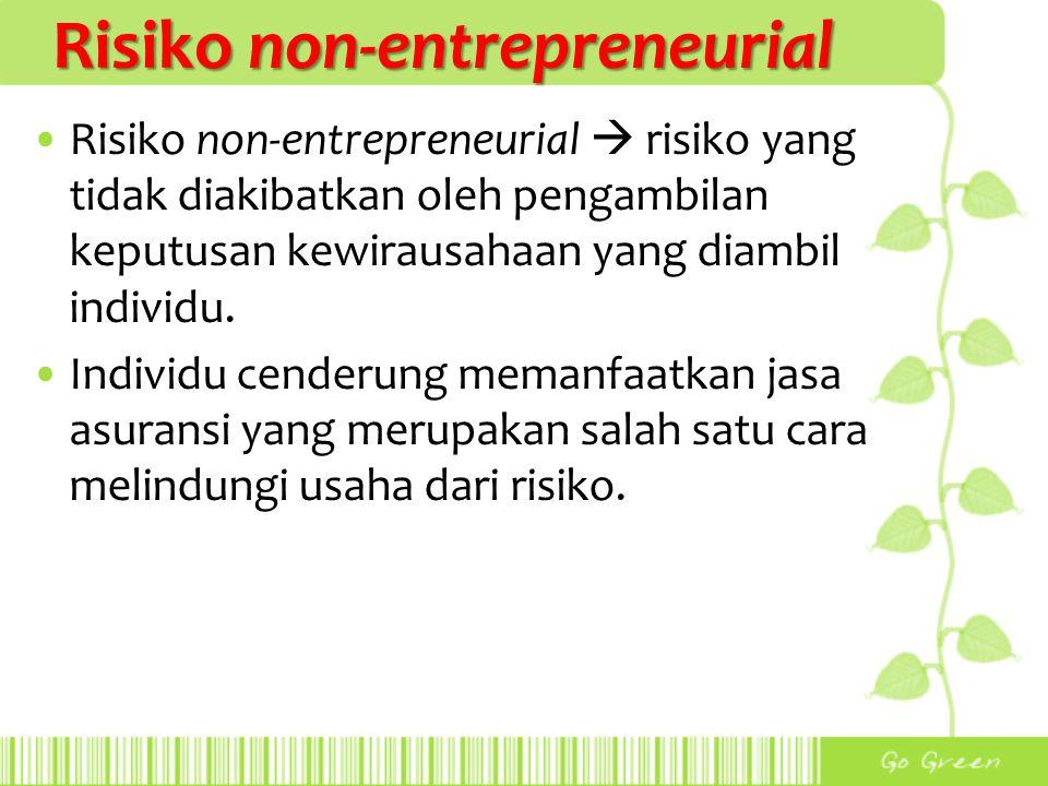 Risiko non-entrepreneurial