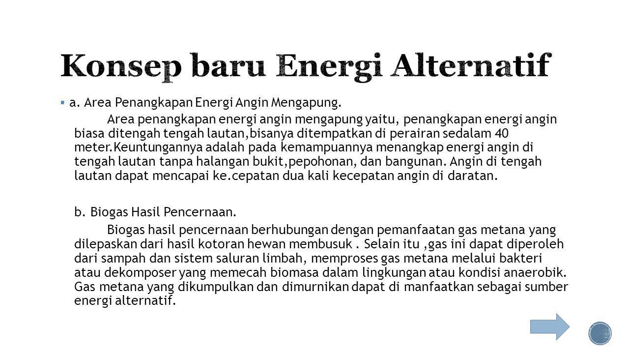 Konsep baru Energi Alternatif