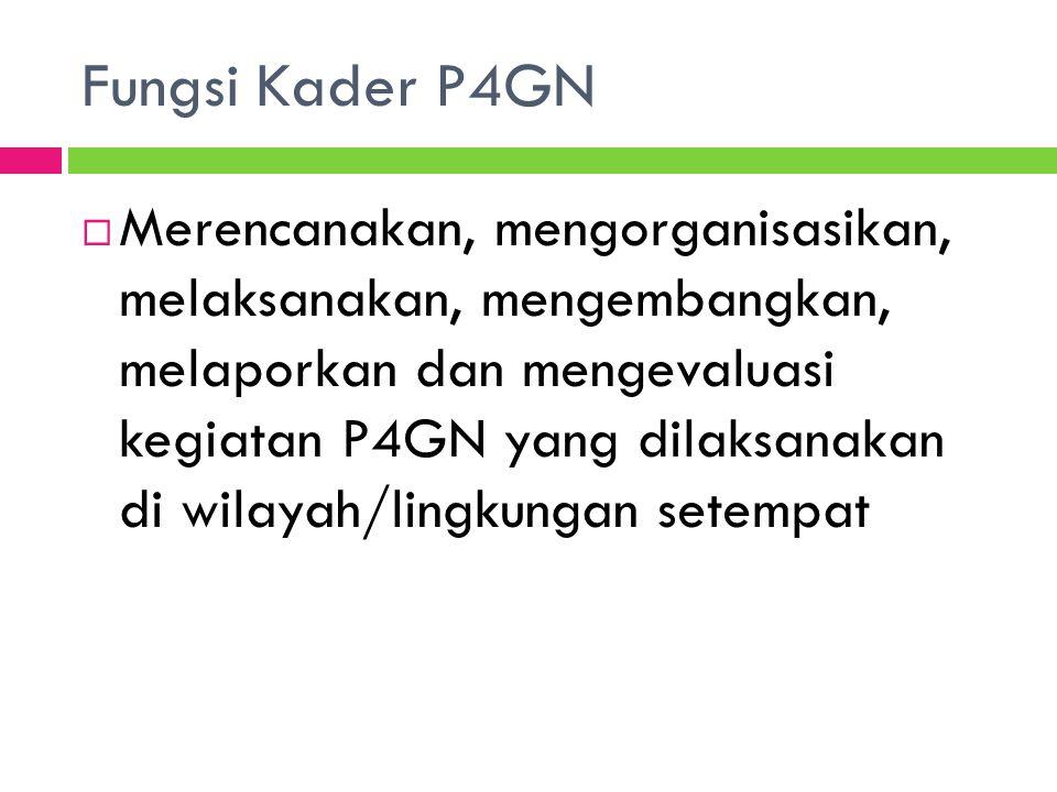 Fungsi Kader P4GN
