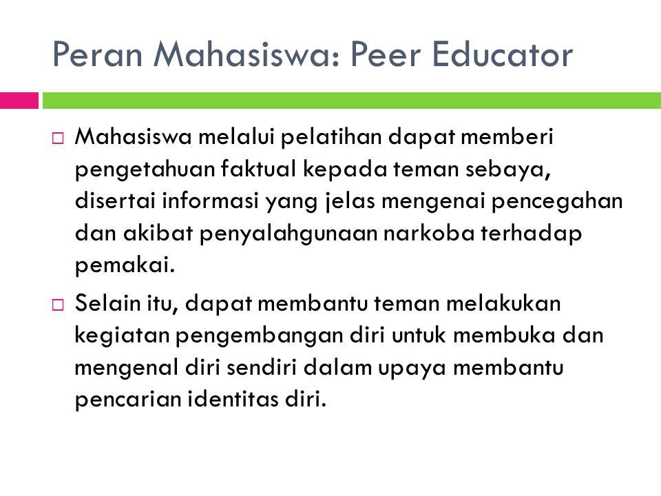 Peran Mahasiswa: Peer Educator