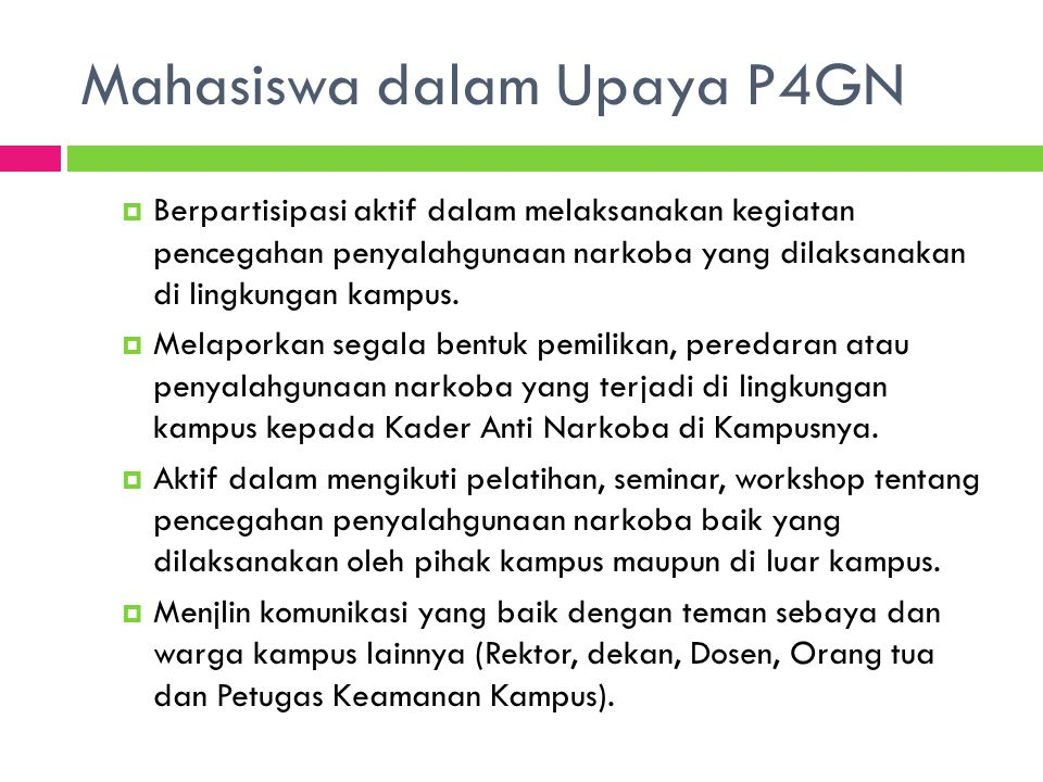 Mahasiswa dalam Upaya P4GN