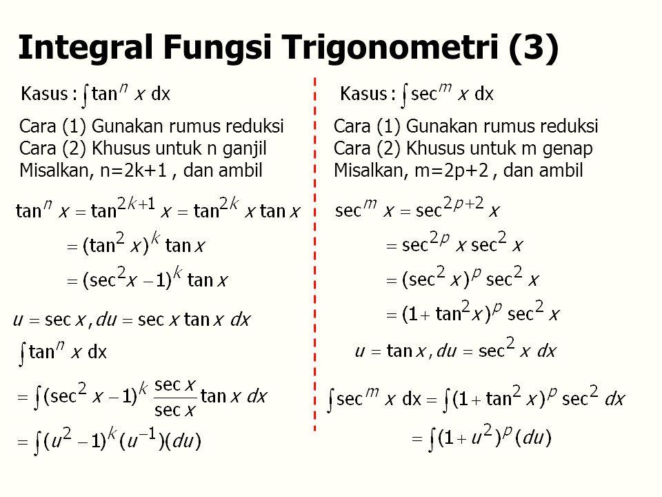 Integral Fungsi Trigonometri (3)