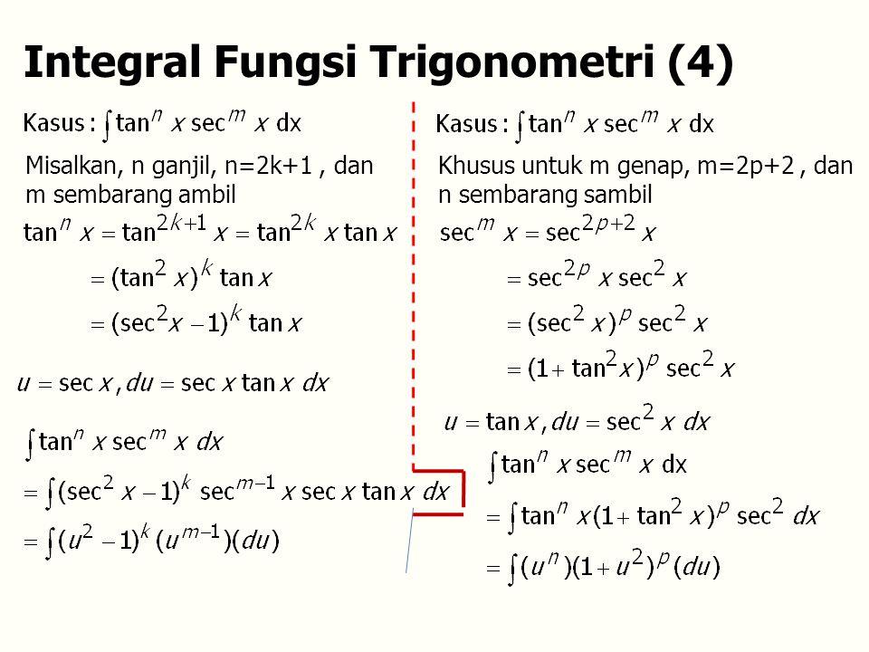 Integral Fungsi Trigonometri (4)