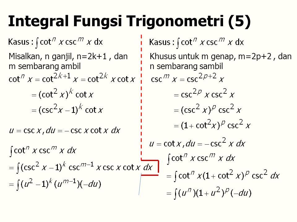 Integral Fungsi Trigonometri (5)
