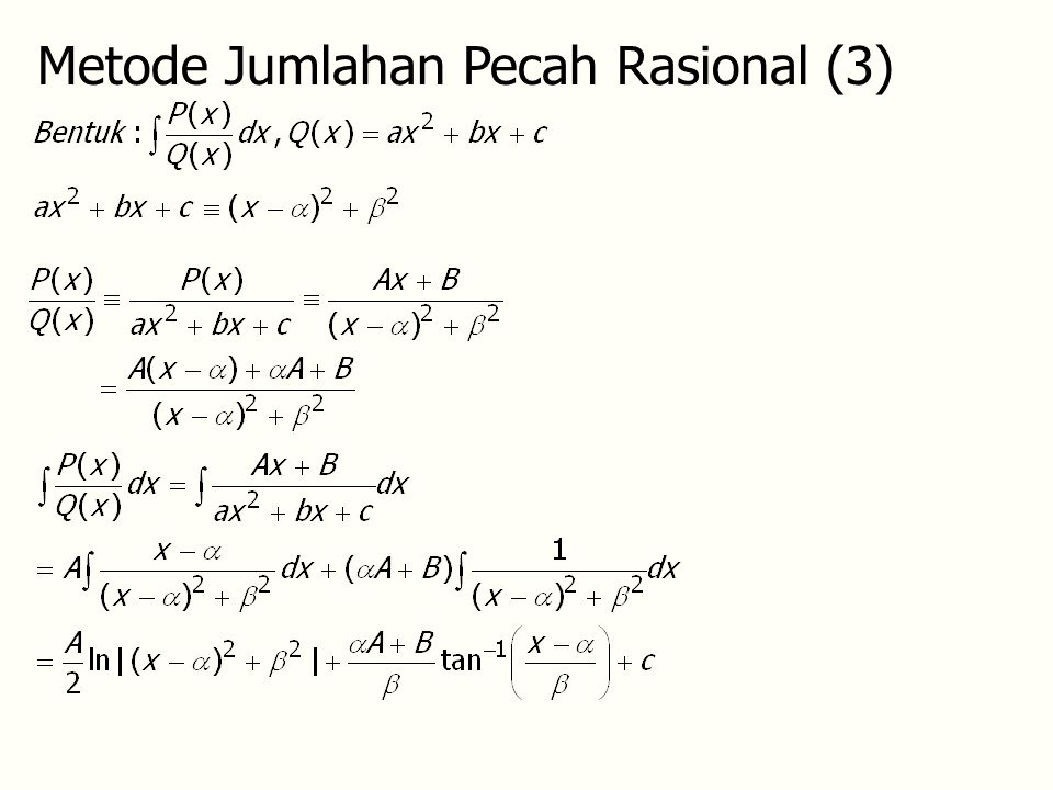 Metode Jumlahan Pecah Rasional (3)