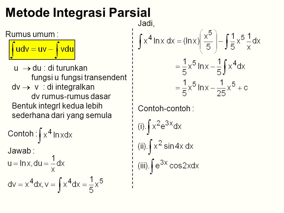 Metode Integrasi Parsial