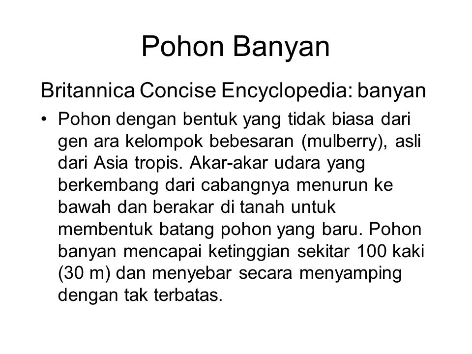 Pohon Banyan Britannica Concise Encyclopedia: banyan