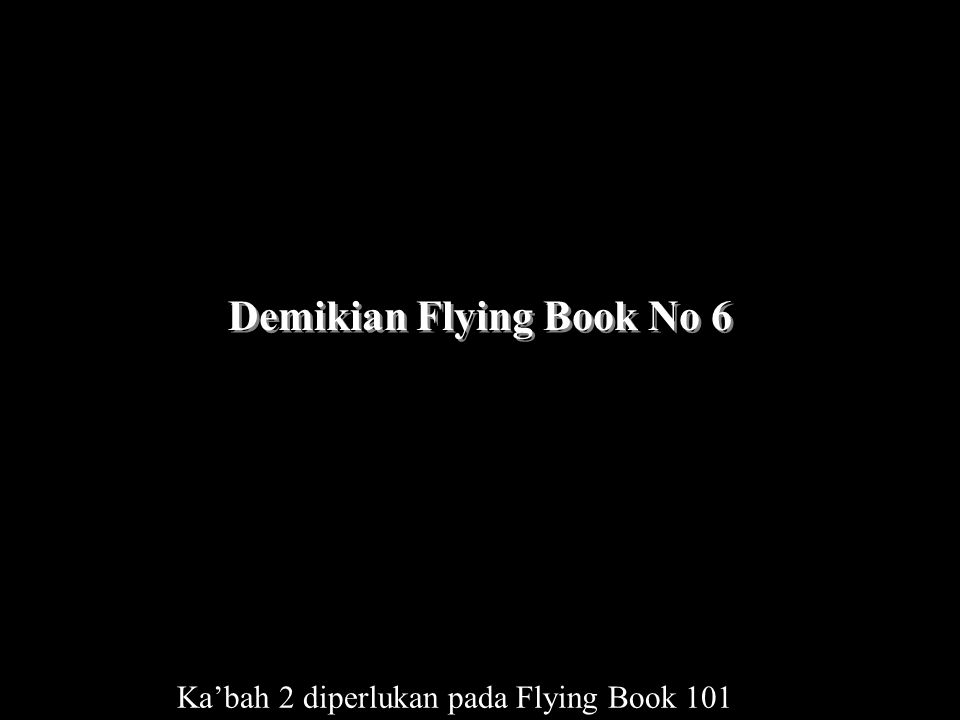 Demikian Flying Book No 6