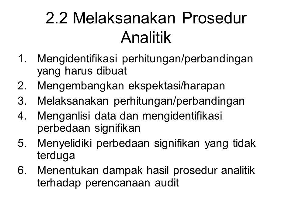 2.2 Melaksanakan Prosedur Analitik