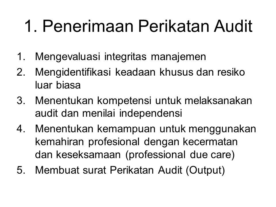 1. Penerimaan Perikatan Audit