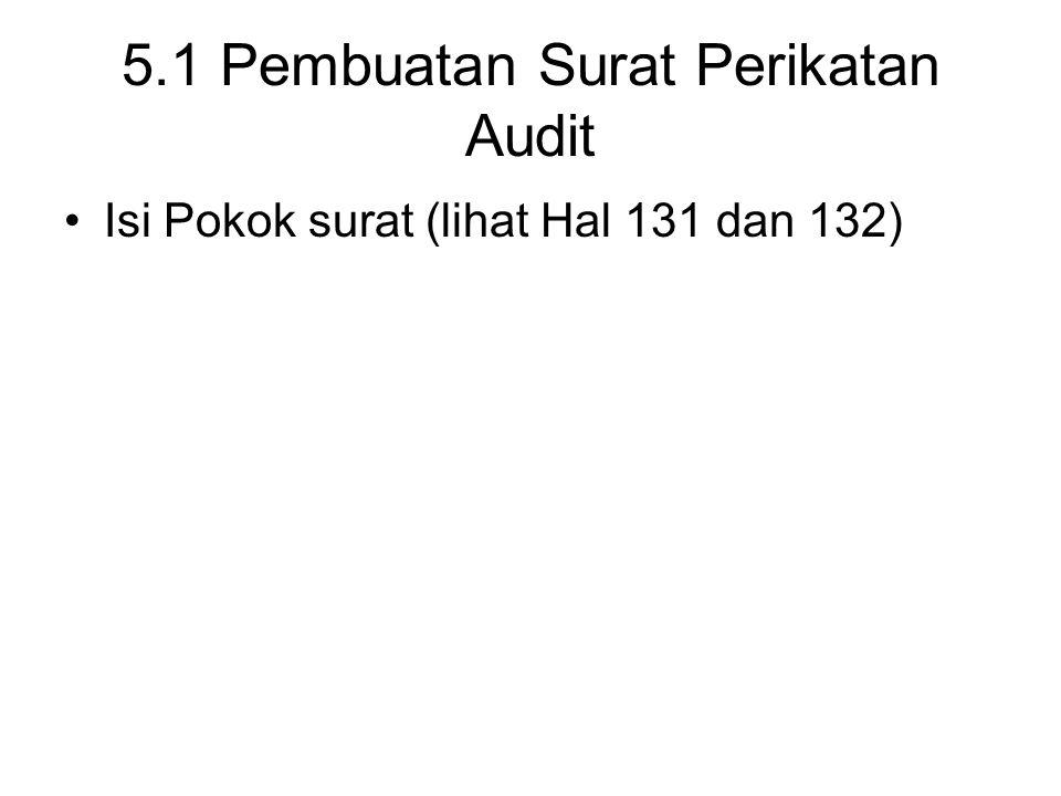 5.1 Pembuatan Surat Perikatan Audit