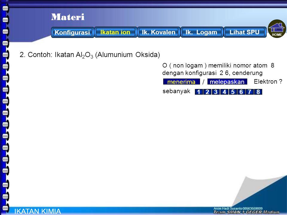 Materi Materi 2. Contoh: Ikatan Al2O3 (Alumunium Oksida) /