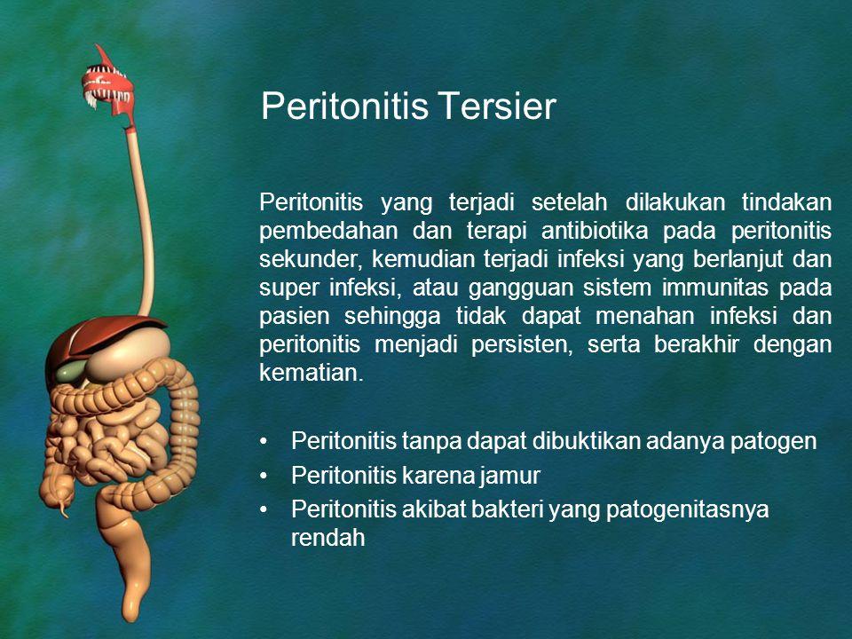 Peritonitis Tersier