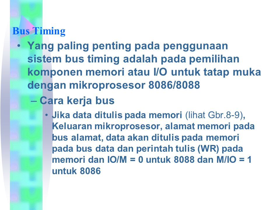 Bus Timing