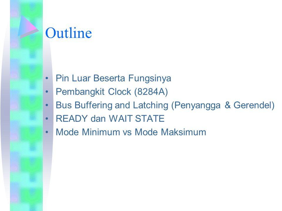 Outline Pin Luar Beserta Fungsinya Pembangkit Clock (8284A)