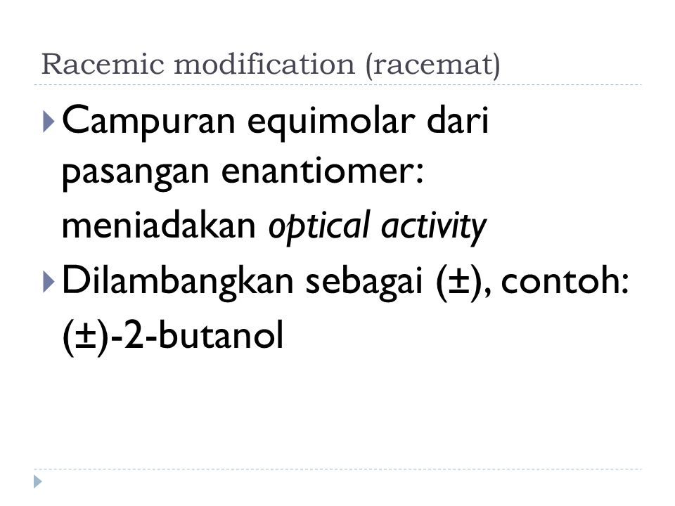 Racemic modification (racemat)