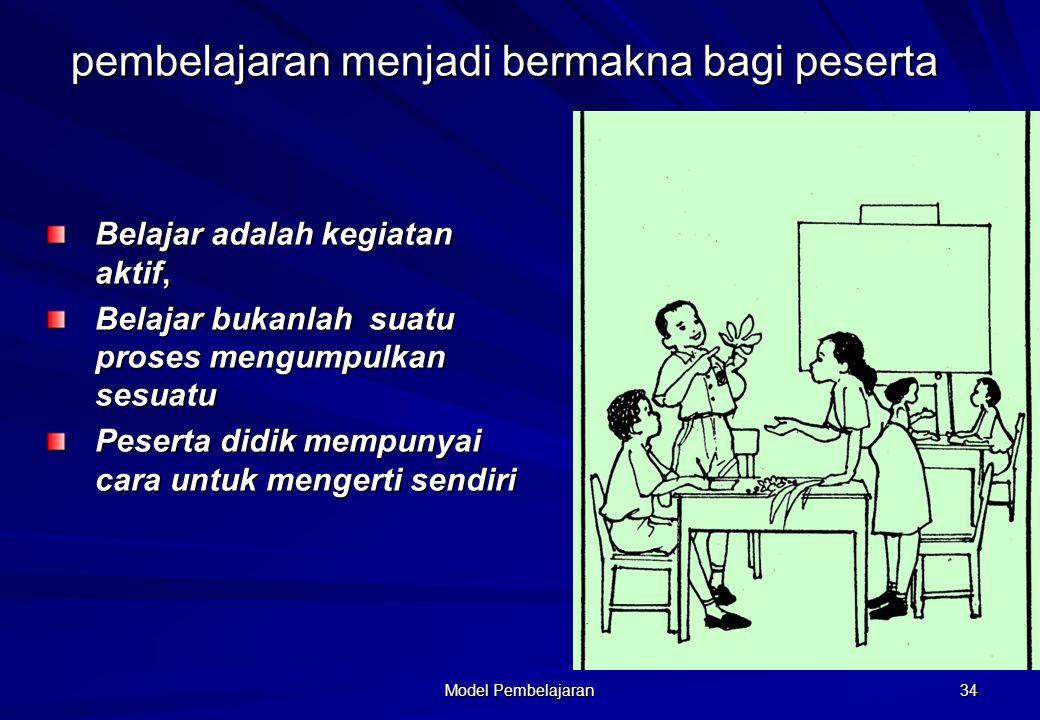 pembelajaran menjadi bermakna bagi peserta