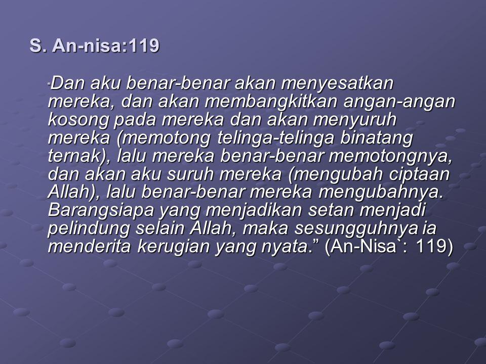 S. An-nisa:119