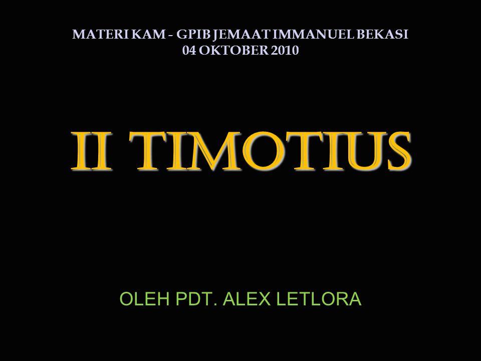 MATERI KAM - GPIB JEMAAT IMMANUEL BEKASI 04 OKTOBER 2010