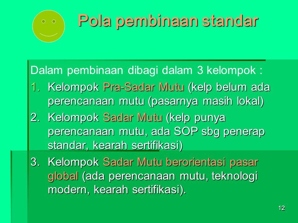 Pola pembinaan standar