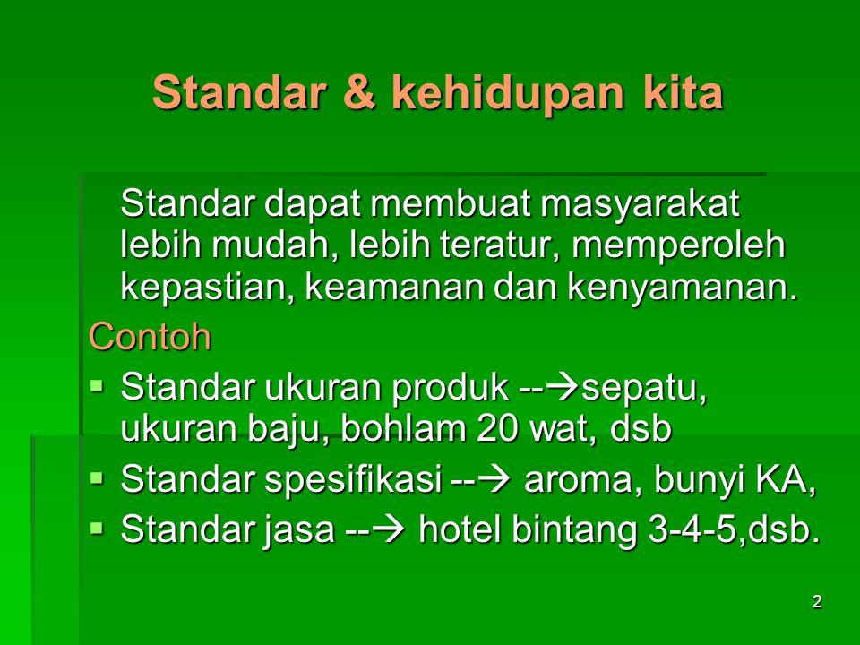 Standar & kehidupan kita