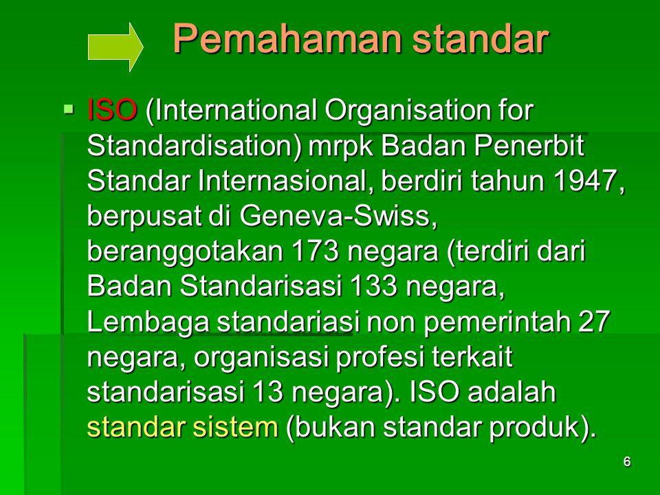 Pemahaman standar