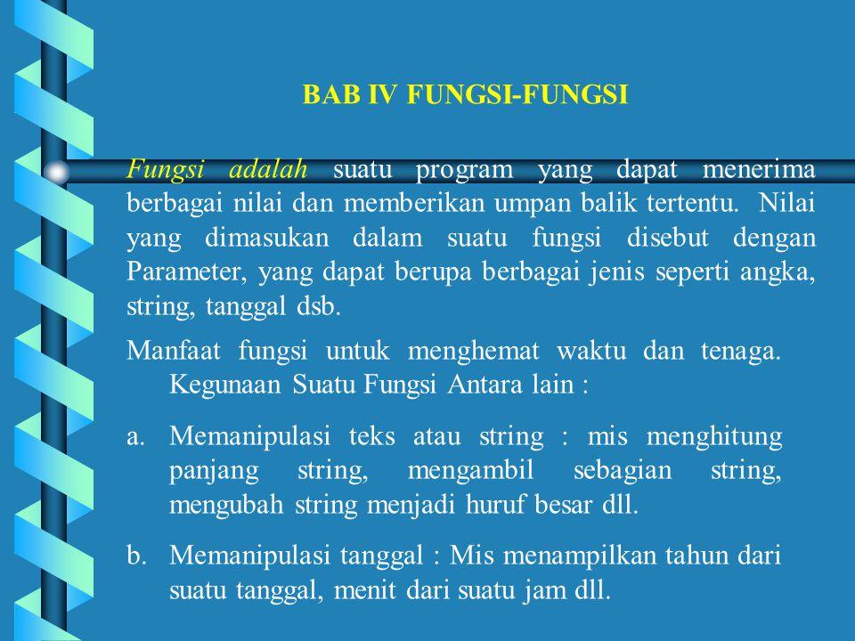 BAB IV FUNGSI-FUNGSI